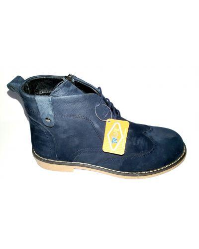 Кожаные ботинки - синие Tiflani