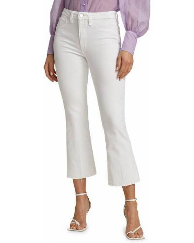 Расклешенные белые укороченные джинсы с карманами Joe's Jeans