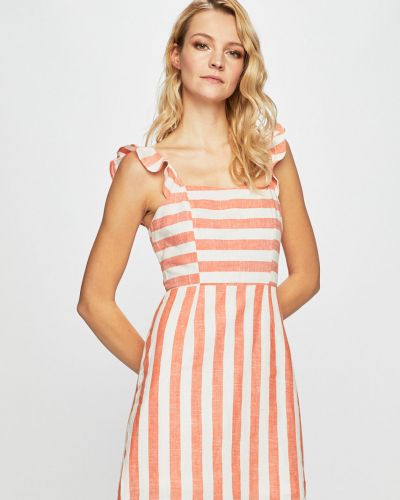 Платье мини из вискозы с оборками Glamorous