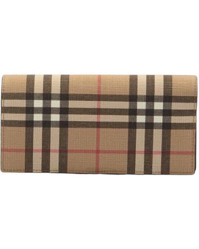 Beżowy portfel elegancki Burberry