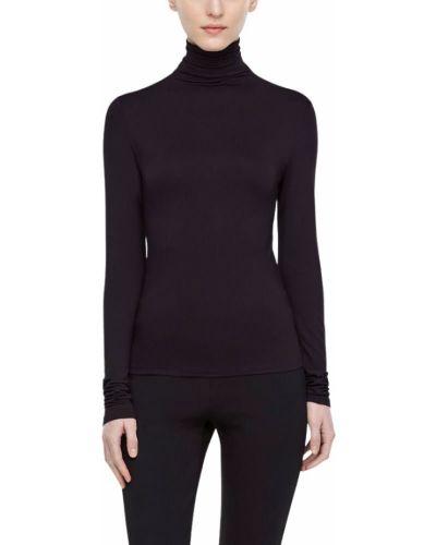 Czarny t-shirt z długimi rękawami Sarah Pacini