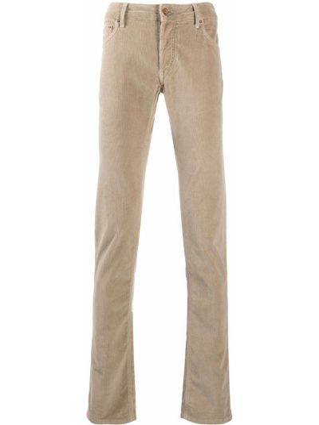 Bawełna spodni klasyczne spodnie z kieszeniami z łatami Hand Picked