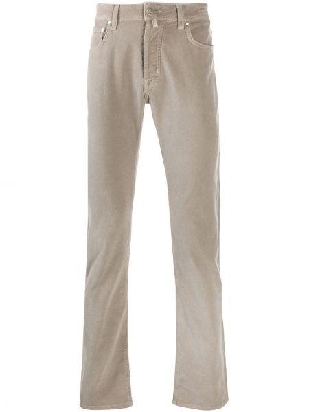 Прямые брюки с карманами серые Jacob Cohen