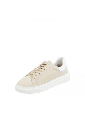 Beżowe sneakersy skorzane Cinque