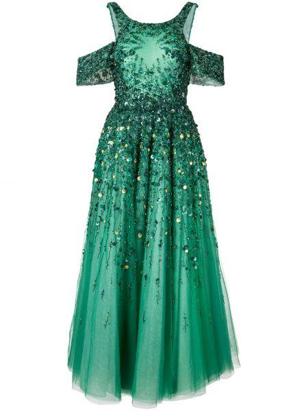 Платье миди с открытыми плечами с вырезом Saiid Kobeisy