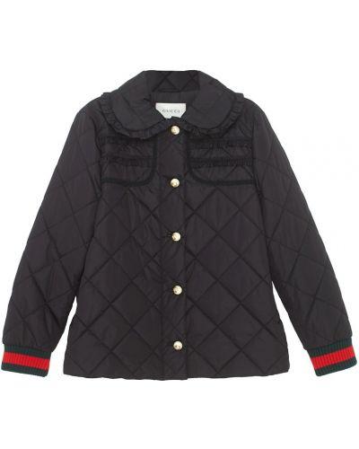 Куртка черная на резинке Gucci