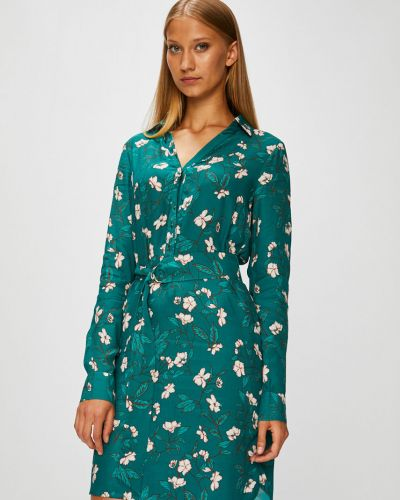 Платье миди на пуговицах с длинными рукавами прямое Morgan