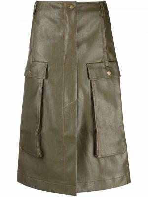 Зеленая юбка с накладными карманами Rejina Pyo