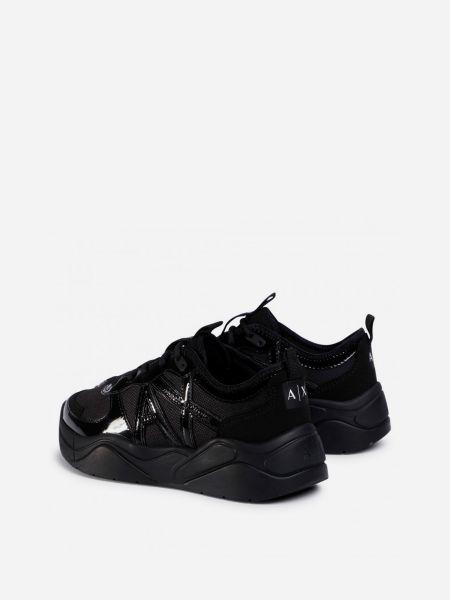 Кожаные кроссовки - черные Armani Exchange