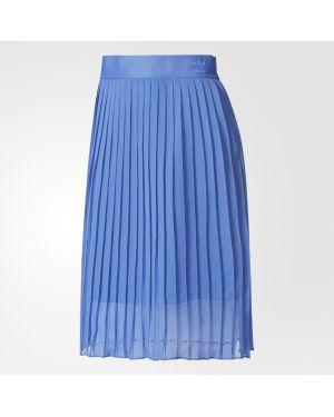 Плиссированная юбка пляжная шифоновая Adidas