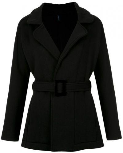 Черное пальто классическое с поясом Lygia & Nanny