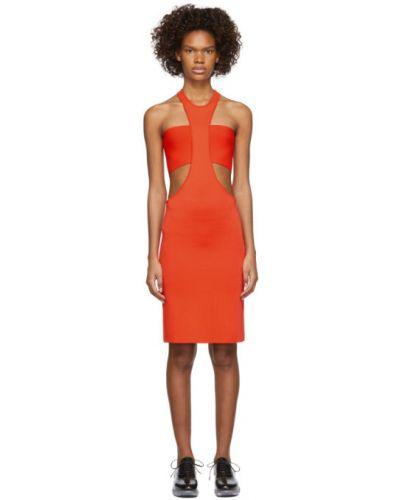 Оранжевое вязаное платье с воротником без рукавов Rudi Gernreich