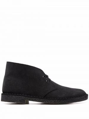 Черные кожаные ботинки Clarks Originals