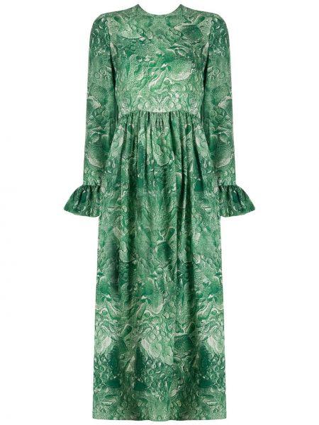 Платье миди на молнии со складками Roseanna
