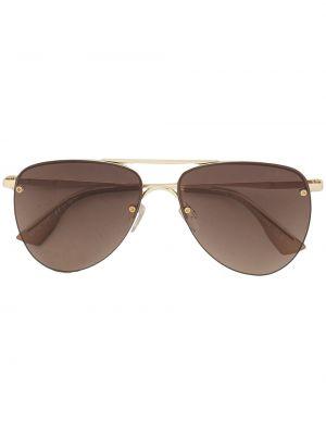 Солнцезащитные очки металлические - коричневые Le Specs