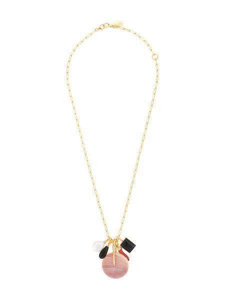 Розовое ожерелье с жемчугом Lizzie Fortunato Jewels