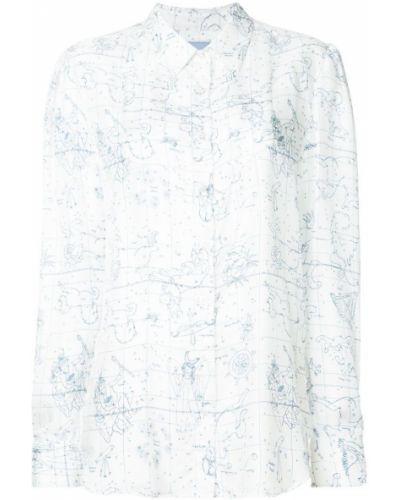 Блузка шелковая белая Macgraw