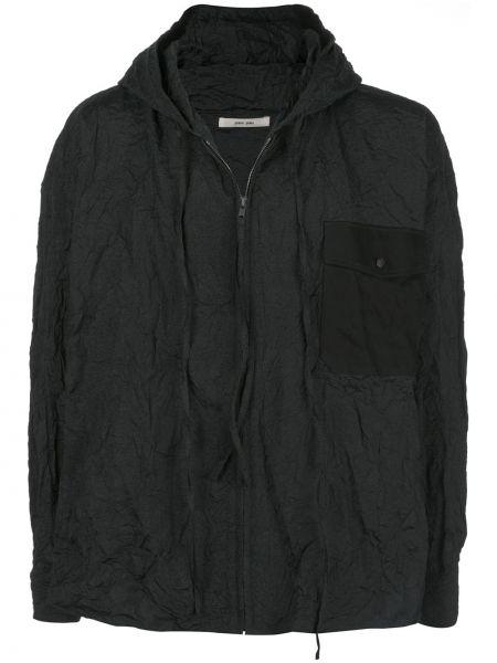 Czarna kurtka z kapturem z długimi rękawami Damir Doma