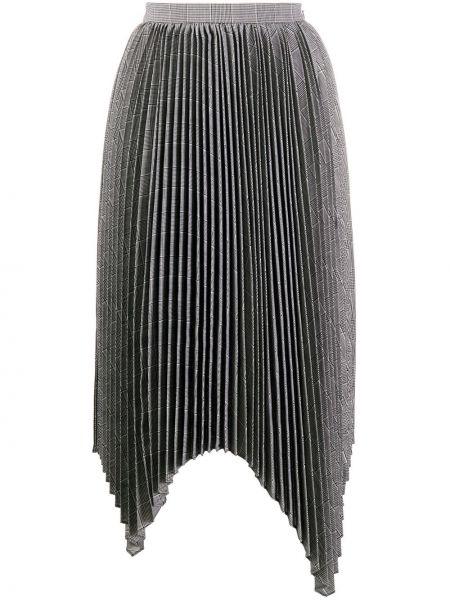 Плиссированная юбка с завышенной талией асимметричная Juun.j