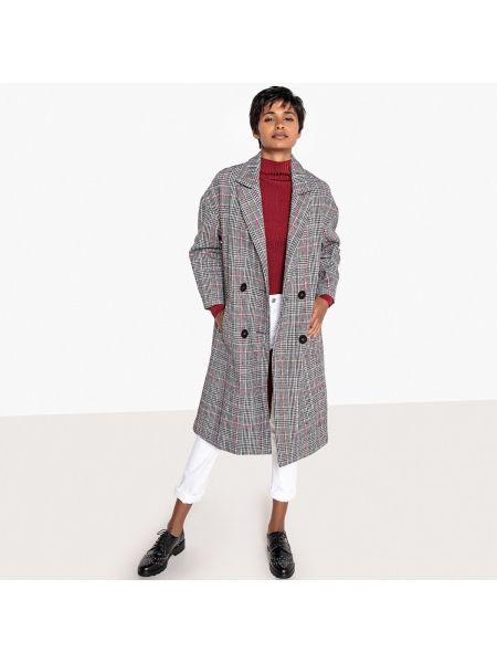 Пальто в клетку из полиэстера La Redoute Collections