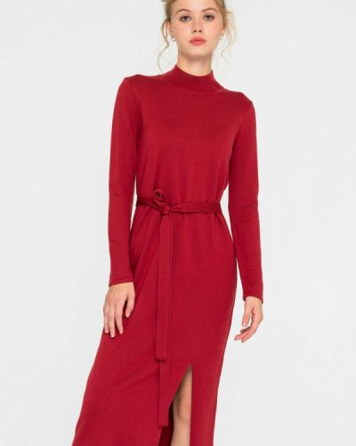 Красное вязаное платье Shtoyko