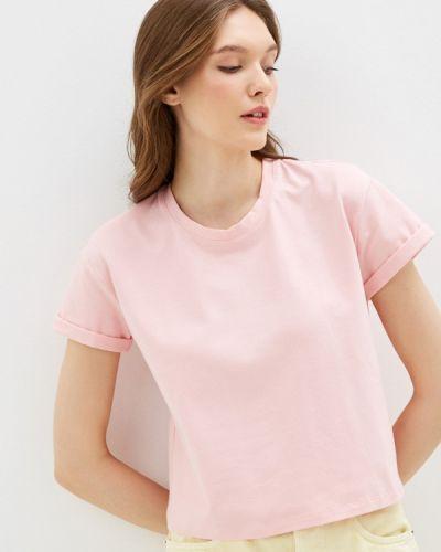 Розовая с рукавами спортивная футболка Sport Angel