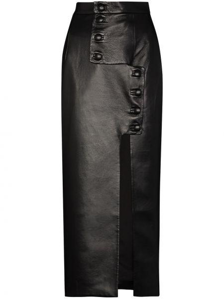 Хлопковая черная юбка карандаш на пуговицах Matériel