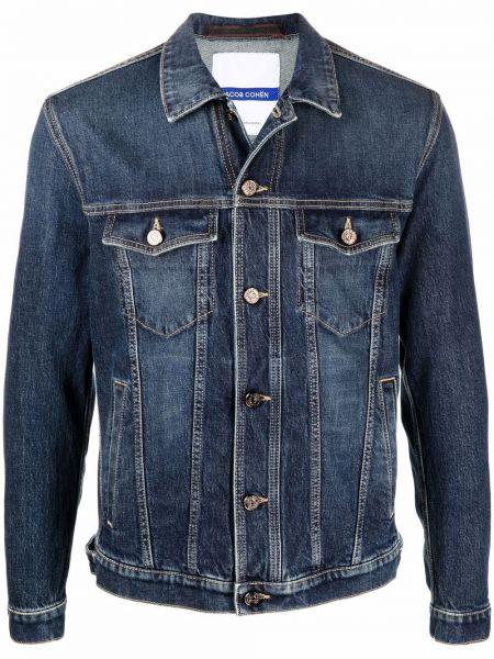 Синяя джинсовая куртка с воротником Jacob Cohen