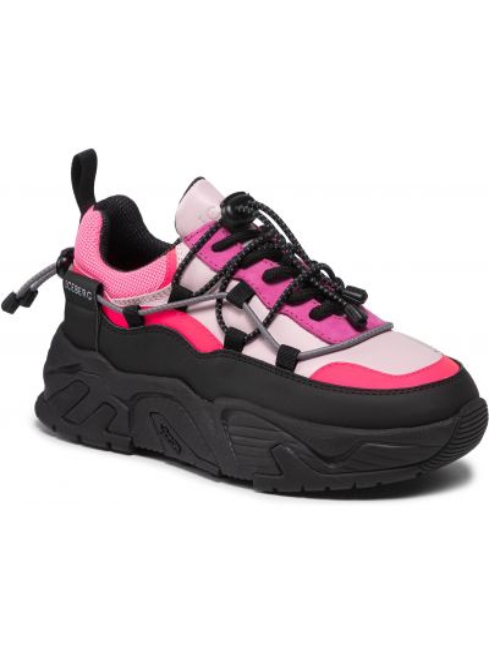 Buty sportowe skorzane - różowe Iceberg
