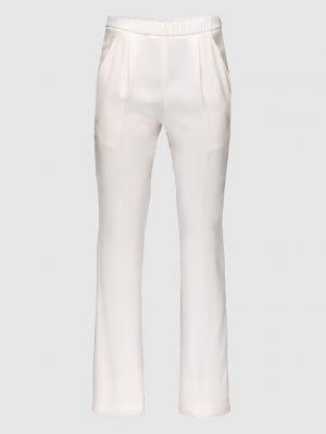 Повседневные шелковые бежевые брюки Vionnet