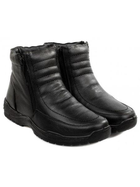Кожаные ботинки - черные Gunter