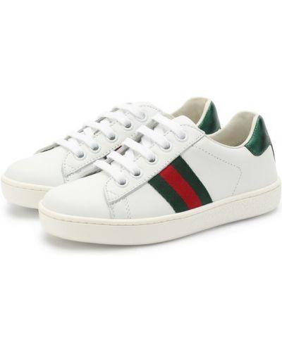 Белые кеды Gucci