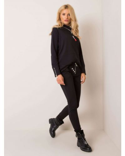 Dres bawełniany - czarny Fashionhunters