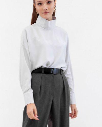 Серая блузка с длинными рукавами Dorogobogato
