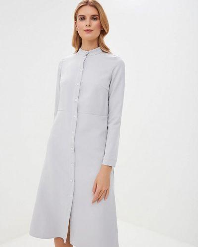 Платье серое платье-рубашка Lavlan