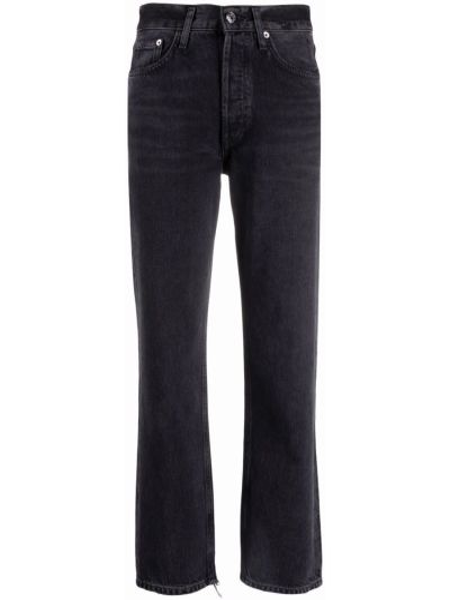 Черные укороченные джинсы на молнии Agolde