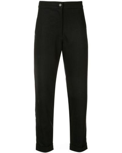 Черные укороченные брюки с поясом Zambesi