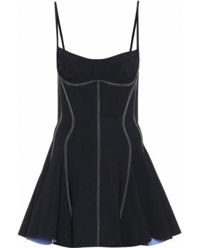 Платье мини стрейч черное Mugler