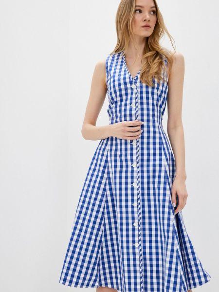 Повседневное платье синее весеннее Polo Ralph Lauren