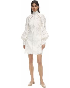 Платье мини льняное на кнопках Zimmermann