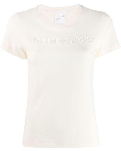 Рубашка с коротким рукавом белая с вышивкой Helmut Lang