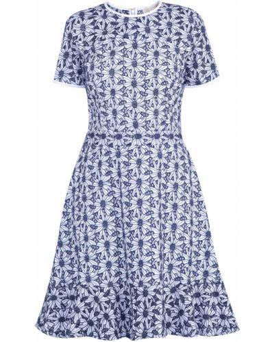 Платье с цветочным принтом с оборками Michael Michael Kors