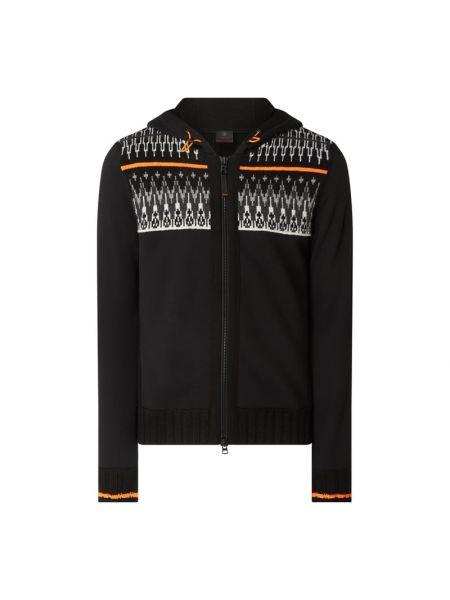 Czarna kurtka z kapturem wełniana Bogner Fire + Ice