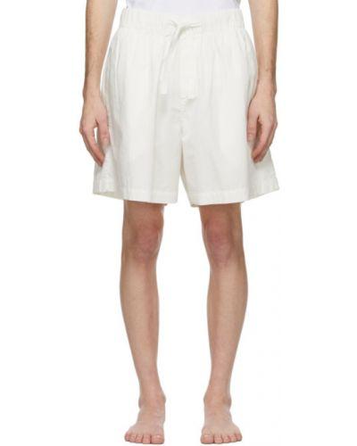 Белые шорты в полоску с карманами Tekla