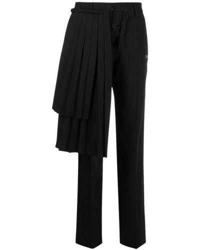 Czarne spodnie z wiskozy Off-white
