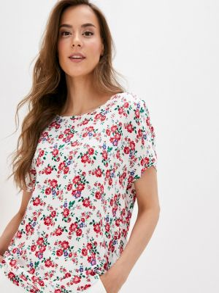Блузка с коротким рукавом белая весенний Defacto