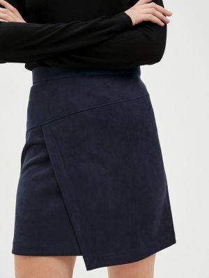Синяя кожаная юбка Raya