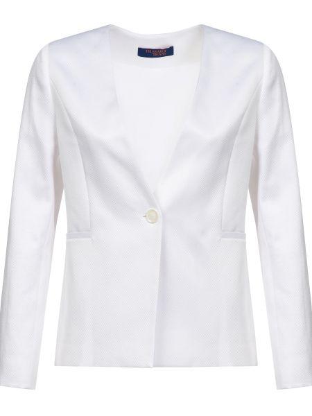 Пиджак на пуговицах - белый Trussardi Jeans