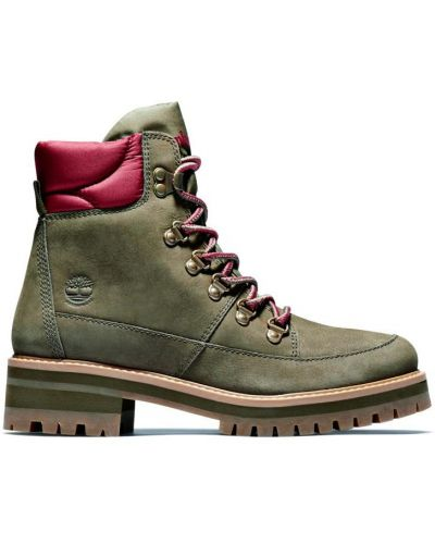 Ботинки из нубука - зеленые Timberland