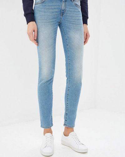 Голубые джинсы-скинни Just Cavalli